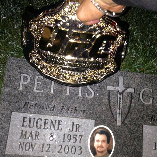 "This past Saturday night, after Anthony ""Showtime"" Pettis made quick work of Benson Henderson and won the Lightweight title from him, he visited his late father's grave."