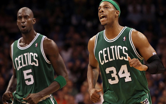 Ah, yes, Kevin Garnett and Paul Pierce wearing the Celtic green I'll always remember 'em as donning.